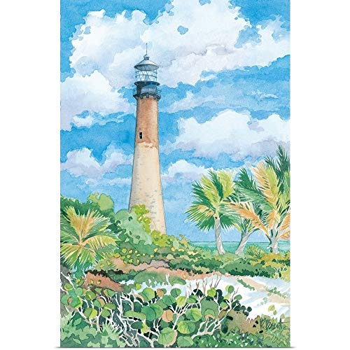 GREATBIGCANVAS Poster Print Entitled Lighthouse Cape Florida by Paul Brent 12