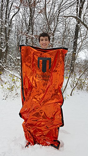 "Tummah Emergency Survival Mylar Thermal Sleeping Bag / Blanket BONUS Receive A ""Must Read"" THE BASIC SURVIVAL GUIDE eBook with Your Order! A $14 Value Absolutely FREE"