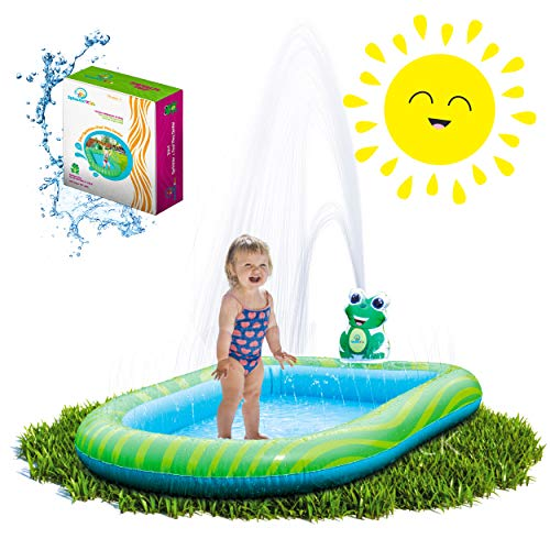 🥇 Splashin'kids 3 in 1 Inflatable Sprinkler Pool Water Park for Kids Toddlers Kiddie Wading Swimming Outdoor Play Mat 1