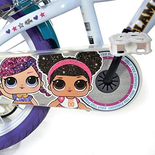 Dinobikes Kinderfahrrad, Bicicletta. Bambina, Bianco, 16 pollici