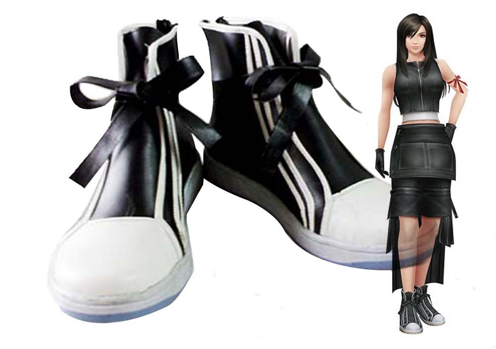 Final Fantasy VII FF7 Tifa Lockhart Cosplay Shoes Boots Custom Made 11 D(M) US Male