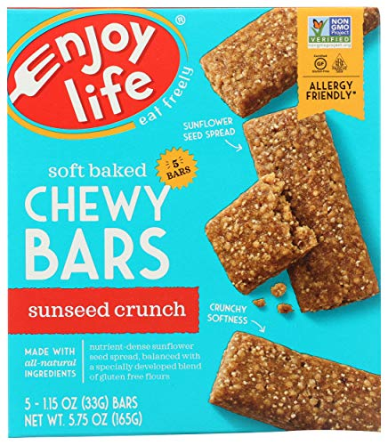 Enjoy Life Sunseed Crunch Baked Chewy Bars, 5 - 1oz bars (Sunbutter Crunch Bars)