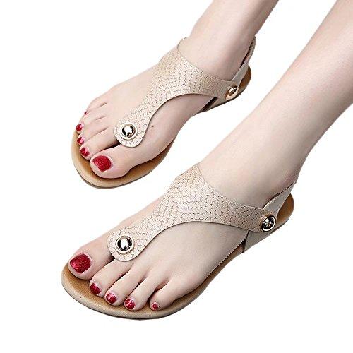 【ユウエ】女性用サンダル サンダル レディース ビーチサンダル ローヒール 歩きやすい 大きいサイズ 靴 018-jxfxc-929-12(25CM 杏色 )