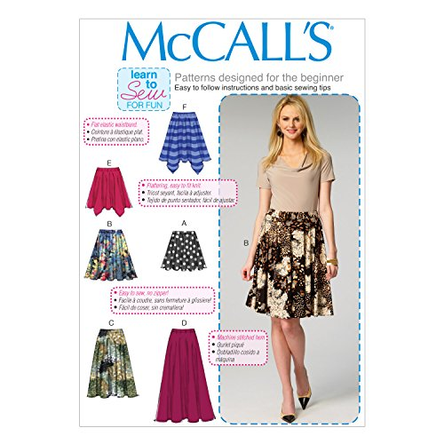 Mccalls Misses Skirt - McCall Pattern Company M6994 Misses' Skirts, Size Y (X-Small-Small-Medium)