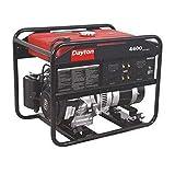 DAYTON GEN-5000-0GH0 Portable Generator, Rated Watts 4400