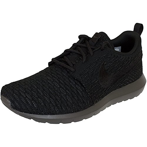 Nike Heren Roshe Nm Flyknit Schoen Gymnastiek Zwart (zwart / Zwart-midnight Mist)