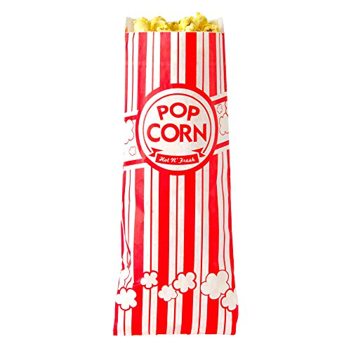 """Concession Essentials CE Popcorn Bags-500 Popcorn Bags, 1 oz. (Pack of 500), 2"""" Height, 3"""" Width, 8"""" Length (Pack of 500)"""
