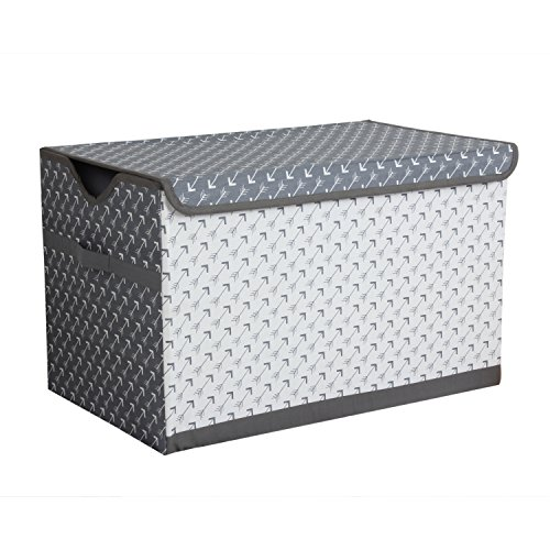 Bacati-Arrows-Storage-Toy-Chest-WhiteGrey