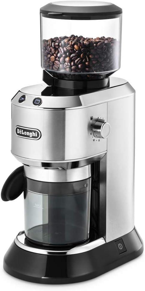 DeLonghi KG 520.M Molinillo de café eléctrico con con manejo manual, 2 teclas de control, 150 W, 14 tazas, plata: Amazon.es: Hogar