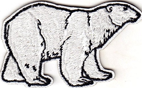 POLAR BEAR - ANIMALS - ZOO - BEARS - Iron On Embroidered Applique Patch