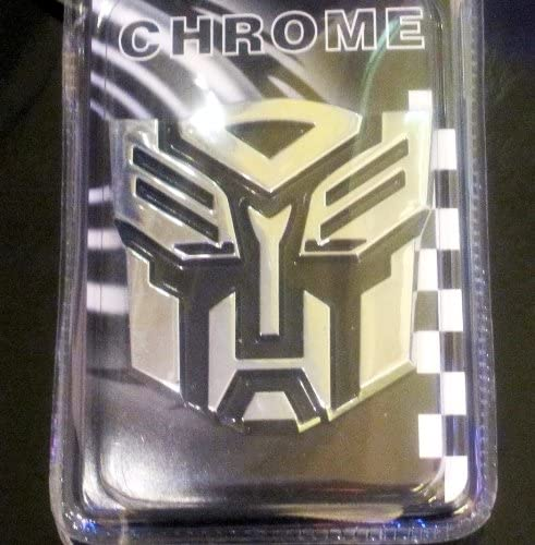 Chrome Finish Transformer Autobot Auto Emblem 2 1//2 Tall