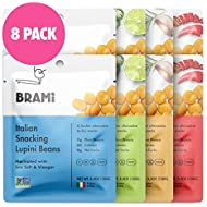 BRAMI Lupini Beans Snack, Variety Pack | 7g Plant Protein, 0g Net Carbs | Vegan, Vegetarian, Keto, Plant Based, Mediterranean Diet, Non Perishable | 5.3 Ounce (8 Count)