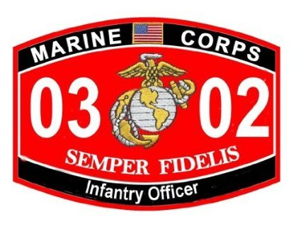 USMC MOS 0302 Infantry Officer Decal 5.5