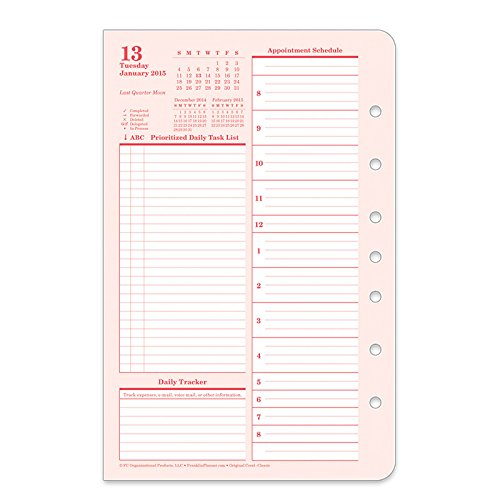 FranklinCovey Classic Color Original Ring-bound Daily Planner - Jan 2015 - Dec 2