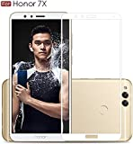 For Honor 7X - WOW Imagine™ Pro HD+ 9H Hardness 2.5D 0.3mm Antibacterial Toughened FULL BODY Tempered Glass Screen Protector For Honor 7X - White