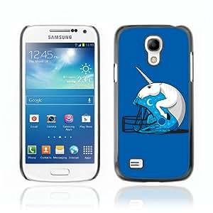 CaseCaptain Carcasa Funda Case - Samsung Galaxy S4 MINI / Unicorn Helmet Funny Illustration /