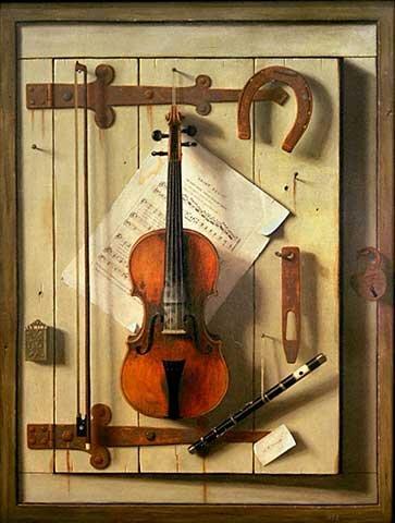 (kunst für alle Art Print/Poster: William Michael Harnett Still Life-Violin and Music Picture, Fine Art Poster, 29.5x39.4 inch / 75x100 cm)