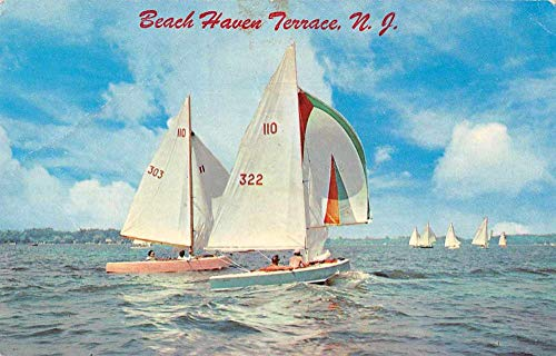 - Beach Haven Terrace New Jersey Sailboats in Harbor Vintage Postcard JD228017
