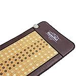 "GemsMat - Grace- Far Infrared Jade and Tourmaline Bead Heat Stone Mat (70""L x 24""W) - FIR Therapy -FDA Registered Manufacturer - Adjustable Timer & Temperature - Infrared Heating Pad"