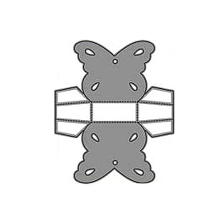xmelug Die Taglia Metallo Taglio Dies Stencil,/ Lalbum della Scatola della Farfalla DIY Imprime Lo Stencil dellalbum delle Carte di Carta Silver