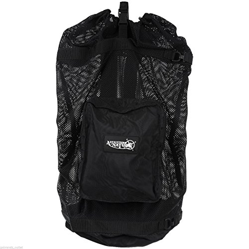 Best Original Costume Ideas (Premium Dive Mesh Backpack By Adventure At Nature: Superior Quality Scuba Gear Bag/ Sturdy Stitching, Safety Drawstring & Strap, Padded Shoulder Strap/ Sturdy Mesh Snorkel Bag/ Top Dive Gear Gift)