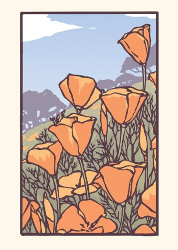 Poppies in Bloom: Boxed Set of 6 Cards ebook
