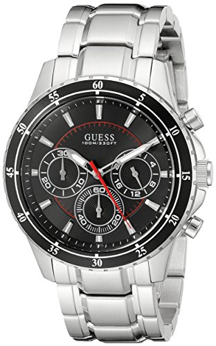 guess-mens-u0676g1-silver-tone-chronograph-watch-with-black-dial
