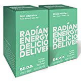 REDD - Mint Chocolate - Plant Based Protein Bar (2oz - 12-pack) - Gluten Free, Vegan, Low Sugar, High Fiber, Probiotics, Healthy On-The-Go Snack for Kids & Adults