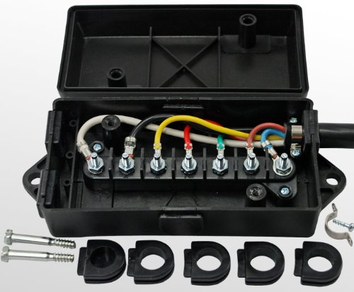 amazon com conntek 7 way trailer cord and junction box sports rh amazon com Box Truck Trailer Brake Box Wiring Diagram