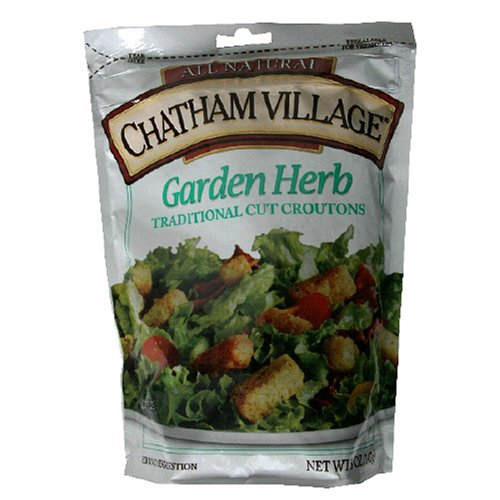 Chatham Village Homestyle Croutons, Garden Herb, 5-Ounce Bags (Pack of 12)