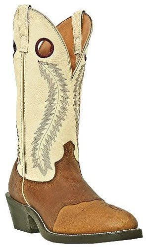 - Laredo Mens Tan Leather Knoxville 13in U Toe Buckaroo Cowboy Boots 7.5 D