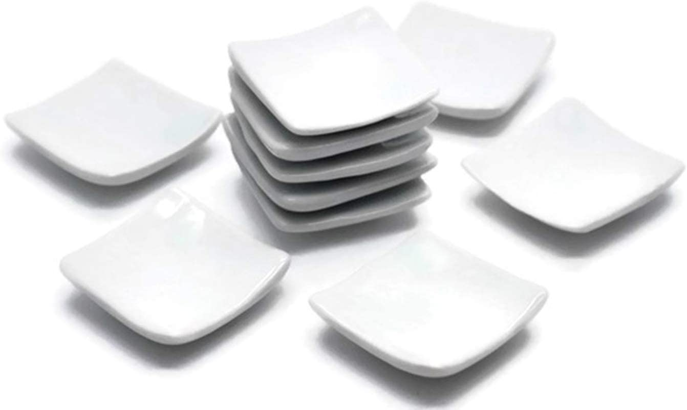 10 White Cearmic Plate Dish Bowl Dollhouse Miniatures Food Kitchen by 1 Shop for You No15