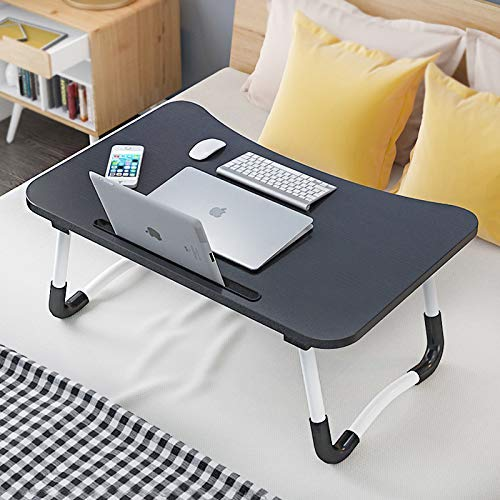 STEEZE Multi Purpose scratch proof Laptop Table with Tab Stand & Cup Holder, Study, Bed Table, Foldable, Ergonomic, Portable, Anti slip legs (Brown)