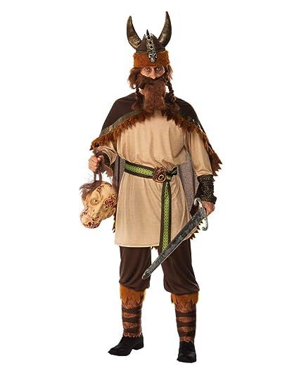 Traje de Guerrero Vikingo Hombre One Size: Amazon.es ...