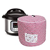 Lexvss Dust Cover, Anti-oil-smoke Cotton Bag for Electric Pressure Cookers, with Accessories Pocket, Family Essential Dust Cover for Instant Pot 6qt, by Lexvss【Red and White Gingham】