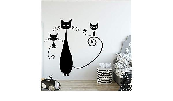 yiyiyaya Cat Vinyl Kitchen Wall Stickers Wallpaper para la ...