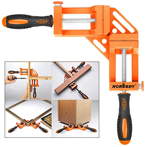 (HORUSDY Quick-Jaw Right Angle 90 Degree Corner Clamp for Welding, Wood-working, Photo Framing - Best Unique Tool Gift for Men)