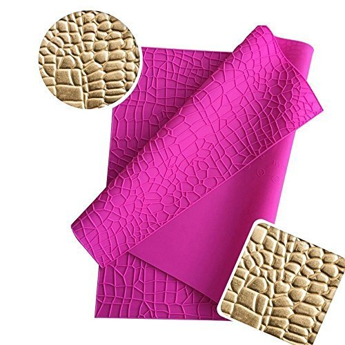 (Crocodile Alligator Pattern Silicone Cake Lace Mat, Fondant Cake Decoration Tool, Cake Embossed Decorating Mold, Non-Stick Chocolate Sugarcraft Soap Lace Mat, Cake Border Baking Molds Baking)