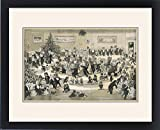 Framed Print of A Cat s Christmas Dance by Louis Wain