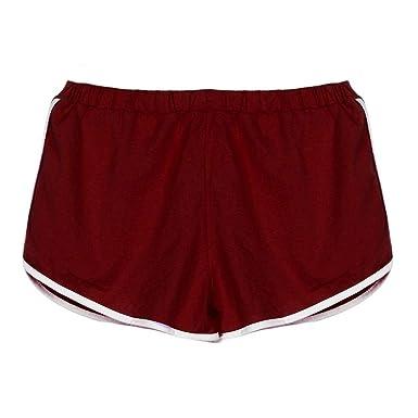 New Summer Pants Women/'s Sports Shorts Gym Workout Waistband Skinny Yoga Short