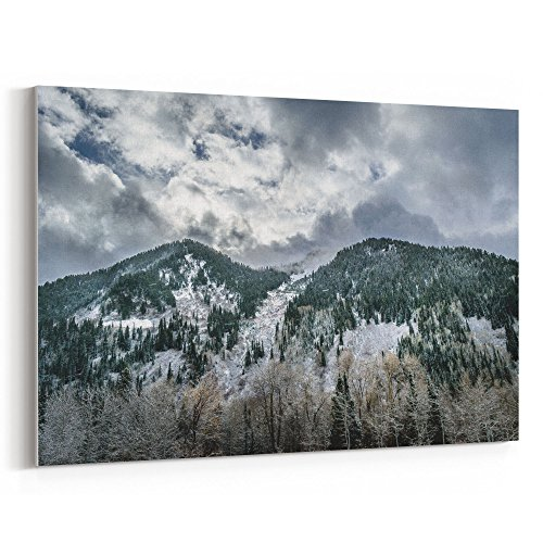 Cream Mini Photo Album - Westlake Art Clouds Cold - 12x18 Canvas Print Wall Art - Canvas Stretched Gallery Wrap Modern Picture Photography Artwork - Ready to Hang 12x18 Inch (3045-3993E)
