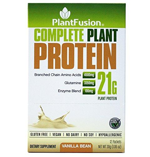 PlantFusion Complete Plant-Based Protein Powder, Vanilla Bean, 30 g Single Serving Packets, 12 Count, Non-GMO, Gluten Free, Vegan, Hypoallergenic
