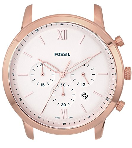 Fossil Men's 'Neutra Chrono' Quartz Stainless Steel Casual Watch, Color:White (Model: - Gold Watch Fossil White And Rose