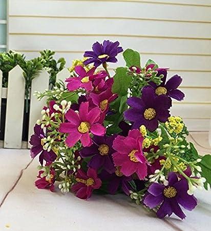 Amazon raylinedo pack of 6pcs dark purple color silk flowers raylinedo pack of 6pcs dark purple color silk flowers artificial silk daisy flower bunch home garden mightylinksfo