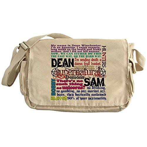 CafePress - Supernatural Quotes - Unique Messenger Bag, Canvas Courier Bag by CafePress