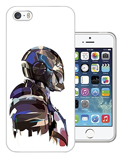002809 - Robot Man Hero Strong Futuristic Design iphone 4 4S Fashion Trend CASE Gel Rubber Silicone All Edges Protection Case Cover