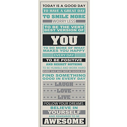 AKI Be Awesome Inspirational Motivational Happiness Quotes Wall Decorative Poster Print 12 x 36 Inch]()