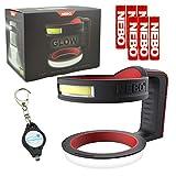 NEBO Glow Tumbler Handle Flashlight 220 Lumen 6668 with 3 X AAA Alkaline Batteries & Lumintrail Keychain Light