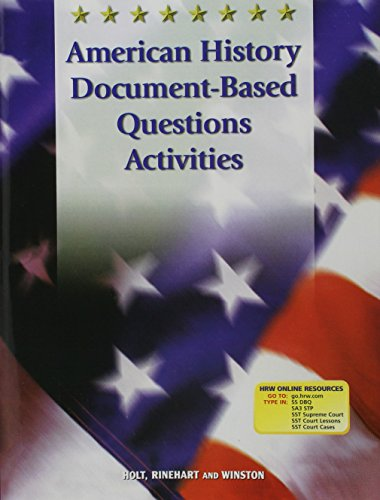 Holt Call to Freedom: American History Document-Based Activities