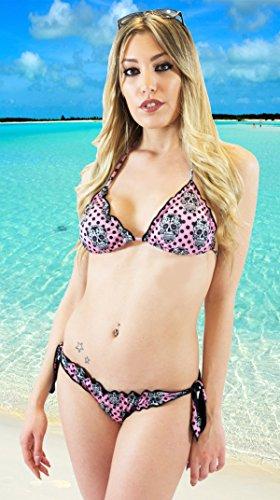 CALAVERA Pois - gepolstertes Triangel-Bikini und brasilianischen 100% in Italien Sammlung 2015 Millennium Star gemacht
